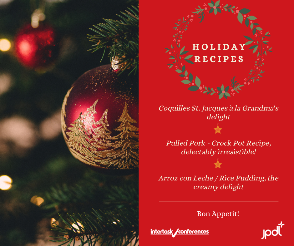 JPdL's Holiday Recipes : Scallops, Pulled-Pork & Rice Pudding!