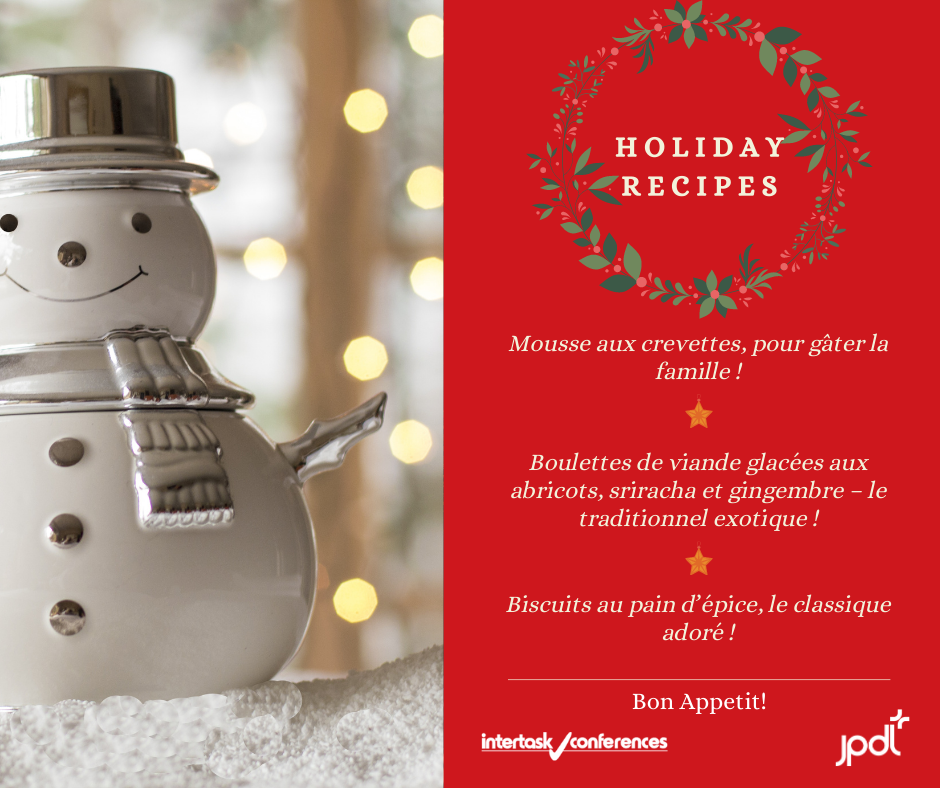 JPdL's Holiday Recipes : Shrimp Mousse, Meatballs & Gingerbread Men !